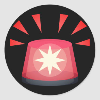 Adesivo Luz Emoji do alerta vermelho