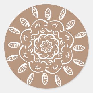 Adesivo Mandala da noz-moscada