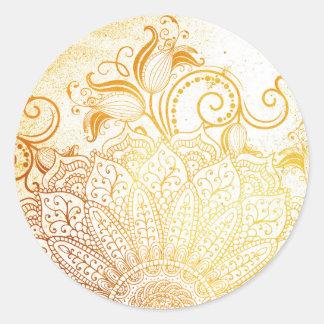 Adesivo Mandala - escova dourada