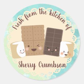 Adesivo Marshmallows bonitos dos smores da cozinha da