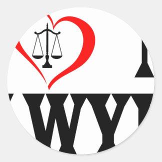 Adesivo Mim coração meu advogado