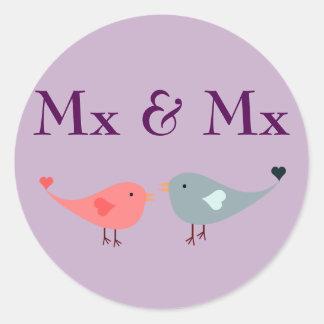 Adesivo MX & MX (casamento)