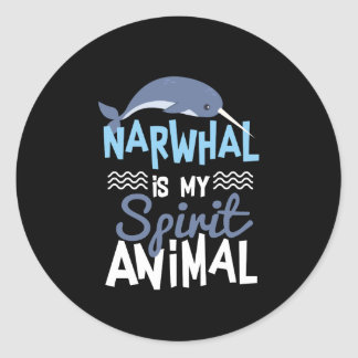 Adesivo Narwhal agradável é meu impressão animal do