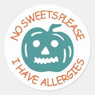 Adesivo Nenhum doce satisfaz, mim tem alergias