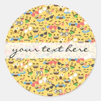 Adesivo o amor bonito do emoji ouve o teste padrão do riso