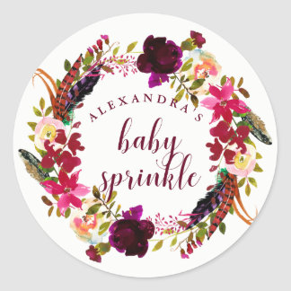 Adesivo O bebê floral da grinalda | de Boho polvilha