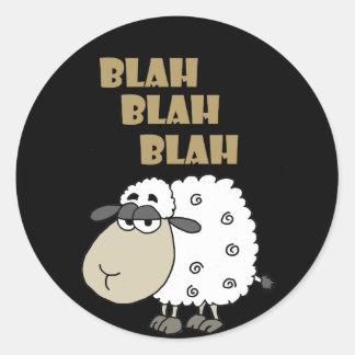 Adesivo O carneiro cínico engraçado diz blá - blá