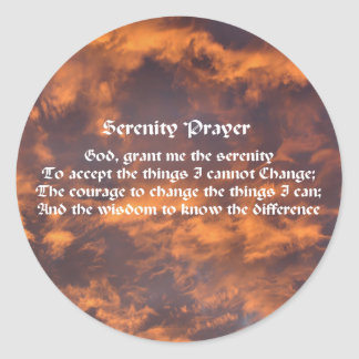 Adesivo O céu da oração da serenidade nubla-se inspirado