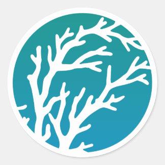 Adesivo O creme roda a árvore azul