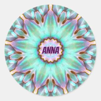 Adesivo O ~ de ANNA personalizou o ~ do Fractal da