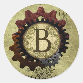 Adesivo O Grunge Steampunk alinha a letra B do monograma