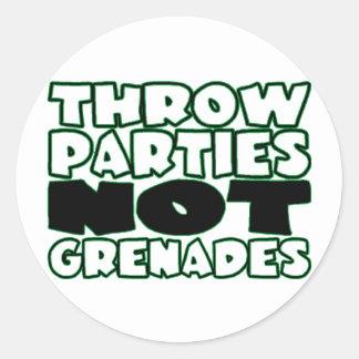 Adesivo O lance Parties não granadas