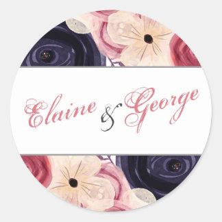 Adesivo O marinho e cora casamento floral