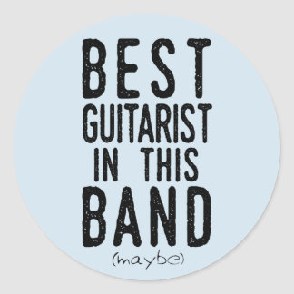 Adesivo O melhor guitarrista (talvez) (preto)
