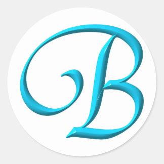 Adesivo O monograma B da inicial da letra