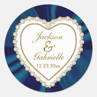 Adesivo O ouro & o casamento azul para o Sr. & a Sra.  