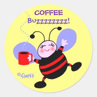 Adesivo O vermelho bonito de w da abelha ocupada dos