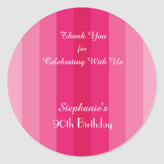 Adesivo Obrigado cor-de-rosa da listra você etiqueta,