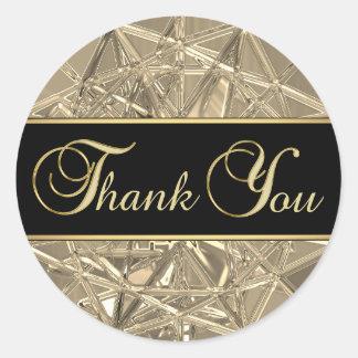 Adesivo Obrigado de vidro metálico do ouro preto original