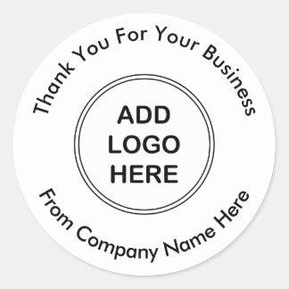 Adesivo Obrigado profissional do logotipo do negócio você