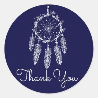 Adesivo Obrigado tribal você sonha azuis marinhos do