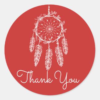 Adesivo Obrigado vermelho você sonha o nativo americano do