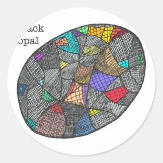 Adesivo Opal preto