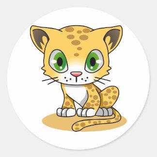Adesivo Os desenhos animados bonitos do leopardo do gato