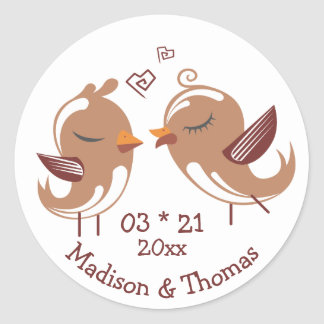 Adesivo Os Lovebirds dos desenhos animados personalizaram