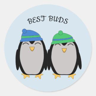 Adesivo Os melhores botões do pinguim