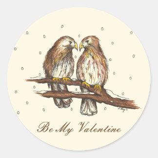 Adesivo Os pássaros Vermelho-Atados do amor do falcão