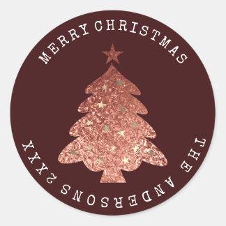 Adesivo Ouro cor-de-rosa Borgonha Bronze1 da árvore do