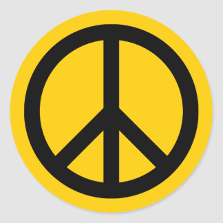 Adesivo Ouro e paz preta