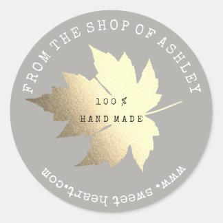 Adesivo Ouro Pastel cinzento da Web Handmade da folha de