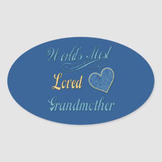 Adesivo Oval A avó a mais amada do mundo