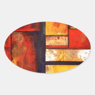 Adesivo Oval Abstrato moderno