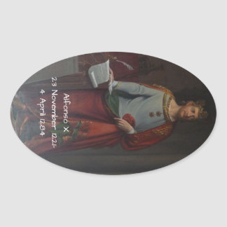 Adesivo Oval Alfonso X
