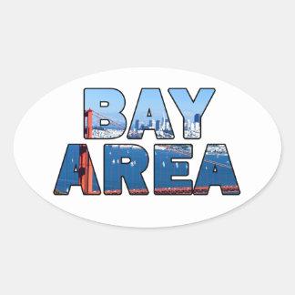Adesivo Oval Área de San Francisco Bay