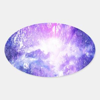 Adesivo Oval Árvore Mystical