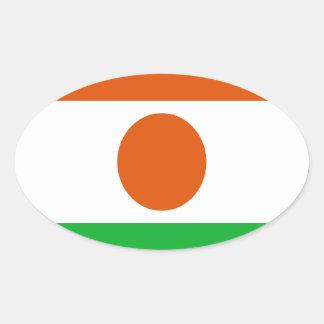Adesivo Oval Baixo custo! Bandeira de Niger