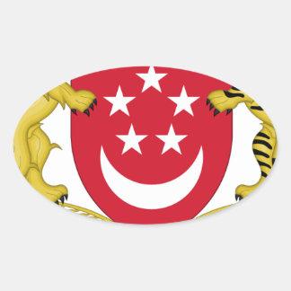 Adesivo Oval Brasão do emblema do 新加坡国徽 de Singapore