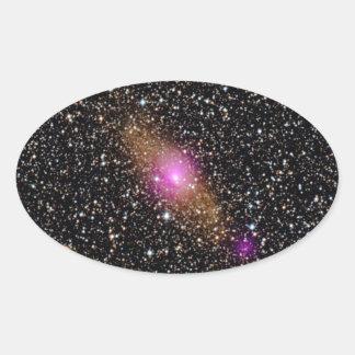 Adesivo Oval buraco negro