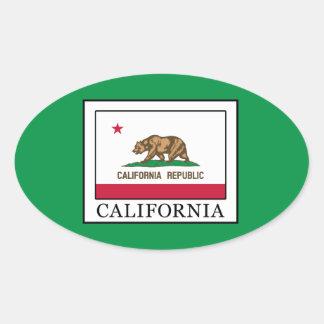 Adesivo Oval Califórnia