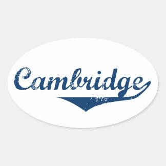 Adesivo Oval Cambridge