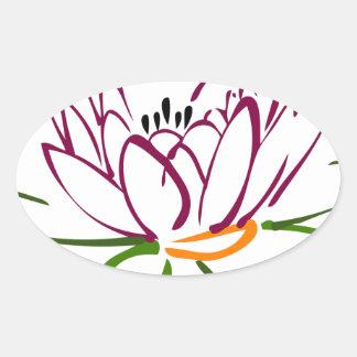 Adesivo Oval Coração de Lotus