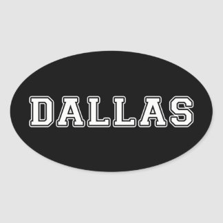 Adesivo Oval Dallas Texas