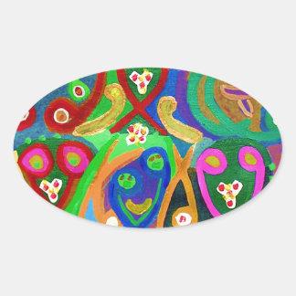 Adesivo Oval Dança do ESPERMA - imaginação sensual do artista