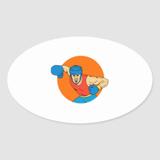 Adesivo Oval Desenho aéreo do círculo do perfurador do