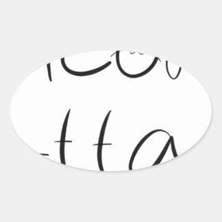 Adesivo Oval Design Sassy do gato