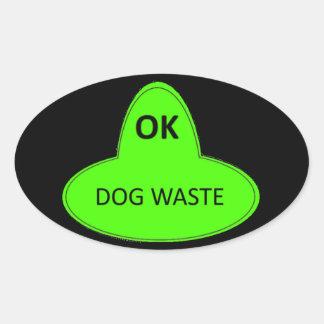 Adesivo Oval Desperdício do cão - APROVADO